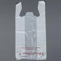1/6 Size White T-Shirt Bag - 1000 / Case