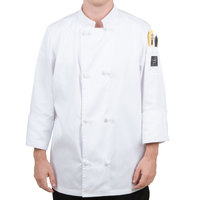 Chef Revival J050-XS Size 32 (XS) Customizable Double Breasted Chef Coat with Knot Cloth Buttons - Poly-Cotton Blend