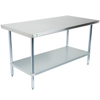 Regency 18 Gauge 30 inch x 60 inch 304 Stainless Steel Commercial Work Table with Undershelf