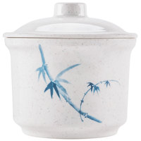 Blue Bamboo 14 oz. Round Melamine Special Bowl with Lid - 12 / Pack