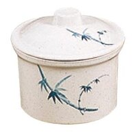 Blue Bamboo Melamine 14 oz. Special Bowl with Lid – 4 1/4 inch 12 / Pack