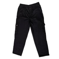 Chef Revival P024BK Size 4X Black Chef Cargo Pants - Poly-Cotton