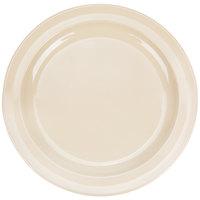 Nustone 10 inch Narrow Rim Tan Melamine Plate - 12/Pack