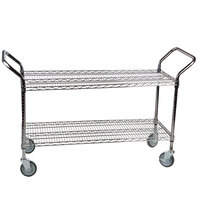 Regency 24 inch x 48 inch Two Shelf Chrome Heavy Duty Utility Cart