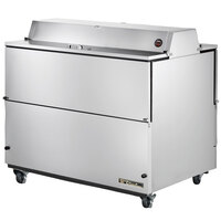True TMC-49-S-DS-SS 49 inch Two Sided Milk Cooler with Stainless Steel Interior and Exterior