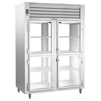 Traulsen RHT232WPUT-HHG Stainless Steel 54.2 Cu. Ft. Two Section Glass Half Door Pass-Through Refrigerator - Specification Line