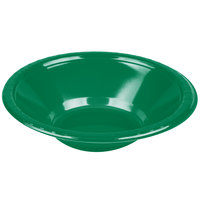 Creative Converting 28112051 12 oz. Emerald Green Plastic Bowl - 20 / Pack