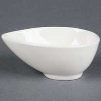 American Metalcraft PORB150 2 oz. White Egg-Shaped Porcelain Cup