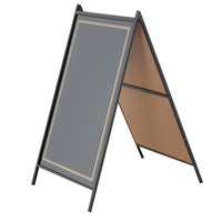 Rainbow Sign Mfg. RMBA-2436-B Black A-Frame Easel Write-On Sidewalk Sign Board 24 inch x 36 inch
