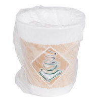 Dart Solo 8X8GWRAP 8 oz. Cafe G Hotel and Motel Individually Wrapped Foam Hot Cup - 900/Case