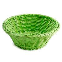 GET WB-1501-G 9 1/2 inch x 3 1/2 inch Designer Polyweave Green Round Basket - 12 / Case