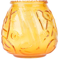 Sterno Products 40118 4 1/8 inch Amber Venetian Candle - 12/Case