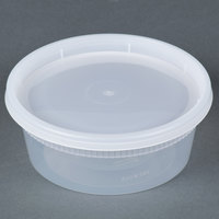 Newspring YL2508 8 oz. Translucent Round Deli Container Combo Pack - 240/Case