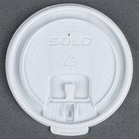 Dart Solo LB3101-0000710 oz. White Plastic Tear Tab Lid - 100 / Pack