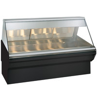 Alto-Shaam EC2SYS-72/PL BK Black Heated Display Case with Angled Glass and Base - Left Self Service 72 inch