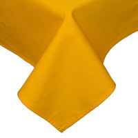 45 inch x 45 inch Gold Hemmed Polyspun Cloth Table Cover