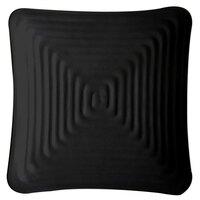 GET ML-61-BK Milano 7 1/4 inch Black Melamine Square Plate - 12/Pack
