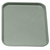 Pearl Gray Cambro 1014FF107 10 inch x 14 inch Customizable Fast Food Tray 24/Case