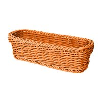 GET WB-1507-OR 10 inch x 4 3/4 inch x 3 inch Designer Polyweave Orange Rectangular Basket - 12/Case
