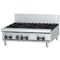 Garland GF36-4G12T Liquid Propane 4 Burner Modular Top 36 inch Gas Range with Flame Failure Protection and 12 inch Griddle - 122,000 BTU