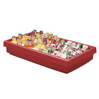 Cambro BUF48 42 inch x 24 inch x 7 inch Red Buffet Bar Base