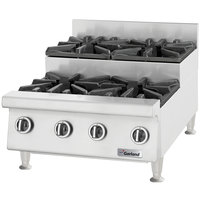 Garland GTOG48-SU8 Natural Gas 8 Burner 48 inch Step-Up Countertop Range - 240,000 BTU