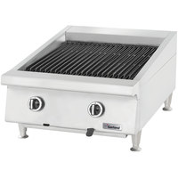 Garland GTBG24-AB24 Natural Gas 24 inch Ceramic Briquette Charbroiler with Adjustable Grates - 60,000 BTU