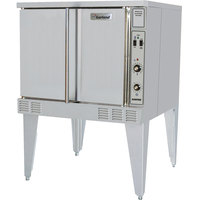 Garland SunFire Series SCO-GS-10S Liquid Propane Single Deck Full Size Gas Convection Oven with 2 Speed Fan and Interior Lights - 53,000 BTU