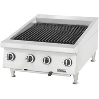Garland GTBG48-AB48 Liquid Propane 48 inch Ceramic Briquette Charbroiler with Adjustable Grates - 120,000 BTU