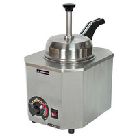 Paragon 2028D Pro-Deluxe 3 Qt. Warmer with Heated Spout and Rear Controls - 120V, 517W