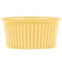 CAC RKF-3YLW Festiware 3 oz. Yellow China Fluted Ramekin - 48/Case