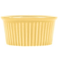 CAC RKF-3YLW Festiware 3 oz. China Fluted Ramekin Yellow 48/Case