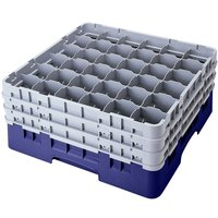 Cambro 36S1214186 Navy Blue Camrack 36 Compartment 12 5/8 inch Glass Rack