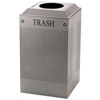 Rubbermaid DCR24TSM Silhouettes Silver Metallic Designer Recycling Receptacle - Trash 29 Gallon (FGDCR24TSM)