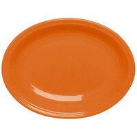 Homer Laughlin 458325 Fiesta Tangerine 13 5/8 inch Platter - 12 / Case