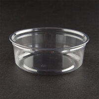 Fabri-Kal Alur RD8 8 oz. Customizable Clear PET Plastic Round Deli Container 500 / Case