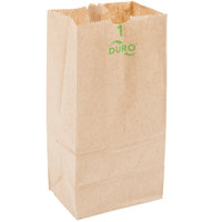 Duro 1 lb. Brown Paper Bag - 500/Bundle
