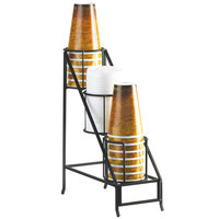 Cal Mil 1452 Iron Cup and Lid Display - 5 inch x 12 inch x 15 inch