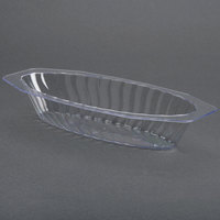 Fineline Flairware 215-CL Clear 15 oz. Plastic Oval Bowl 300 / Case