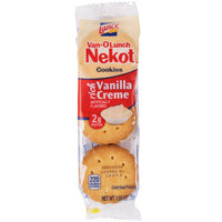 Lance Van-O-Lunch Nekot Vanilla Creme Sandwich Cookies 20 Count Box   - 6/Case