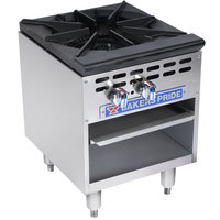 Bakers Pride Restaurant Series BPSP-18-2 Natural Gas Single Burner Stock Pot Range