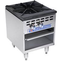 Bakers Pride Restaurant Series BPSP-18-2 Natural Gas Single Burner Stock Pot Range