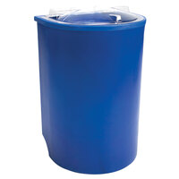 Blue Iceberg 500 Insulated Portable Beverage Cooler / Merchandiser with Lid and Drain and Semicircular Design 60 Qt.