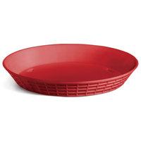 Tablecraft 13759R 9 inch Red Plastic Diner Platter / Fast Food Basket - 12/Pack