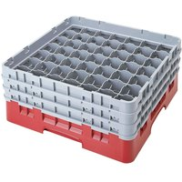 Cambro 49S1114163 Red Camrack 49 Compartment 11 3/4 inch Glass Rack