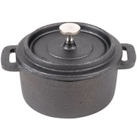 American Metalcraft CIPR42 4 inch Round Cast Iron Individual Serving Casserole Dish