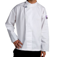 Chef Revival T001-SM Customizable Chef-Tex Poly-Cotton Pull-Over White Chef Tunic with Black Cuffs Size 36 (S)