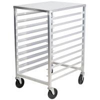 Advance Tabco PR10-3WT 10 Pan Half Height End Load Bun / Sheet Pan Rack with Top - Assembled