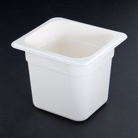 Cambro 66CW148 White Camwear 6 inch Deep One Sixth Size Food Pan
