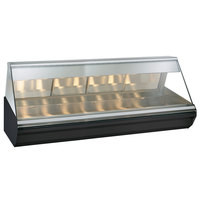 Alto-Shaam EC2-96/PR S/S Stainless Steel Heated Display Case with Angled Glass - Right Self Service 96 inch